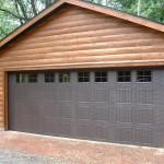 Wide Brown Garage Door