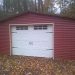 Garage Door on Shed